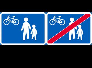 Kuvat uudistuneista kävelykatu ja kävelykatu päättyy -liikennemerkeistä.