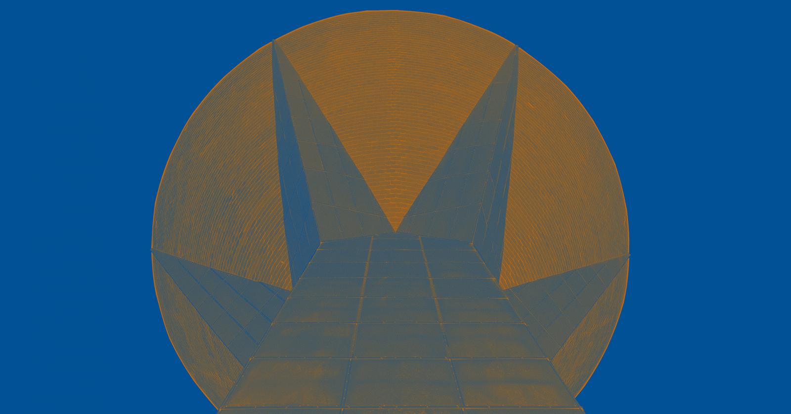Arkkitehtuuripoliittisen ohjelman tunnus on Lahden vesitorni