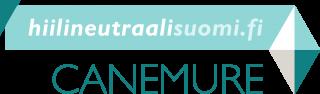 Hankkeen logo, jossa lukee hiilineutraalisuomi.fi -canemure