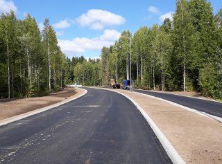 Kiiliäisvuorenkadun jatkeen uusi asfaltti.