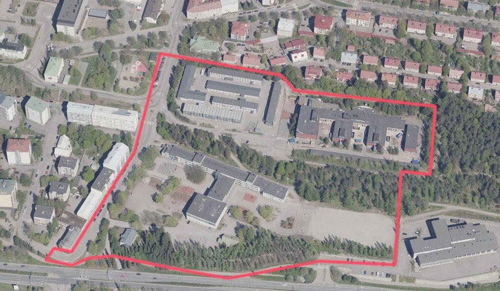 Suunnittelualue koskee Paavolan kaupunginosassa Lotilan koulun ja Vuoksenkadun aluetta.