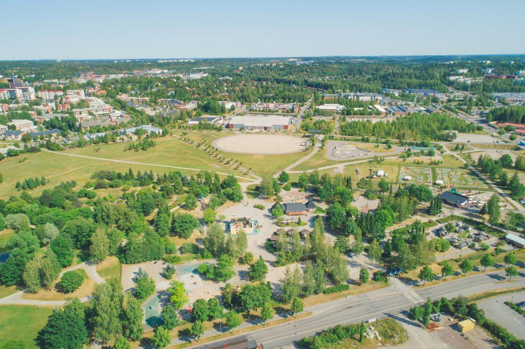 Launeen perhepuisto on osa keskuspuiston puistokokonaisuutta