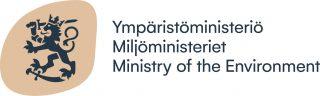 Ympäristöministeriön logossa on Suomen vaakunan leijona.