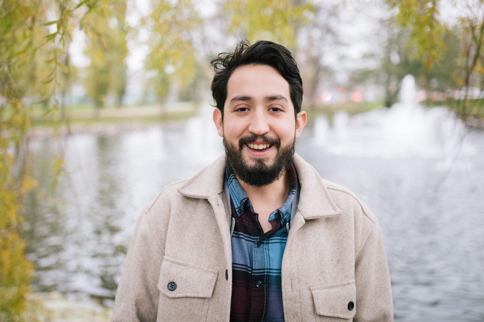 Enrique Marin viihtyy Lahden luontokohteissa.