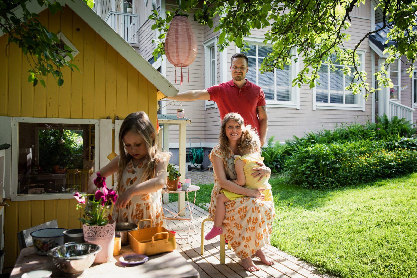 Anttilanmäen asuinalueella on viehättäviä koteja