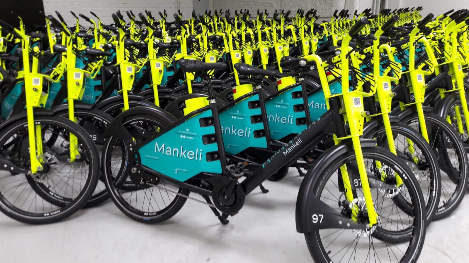 Lahden kaupunkipyörä on Mankeli.