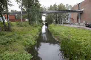 Joutjoki virtaa Niemen arkkitehtuurikilpailun suunnittelualueen läpi.